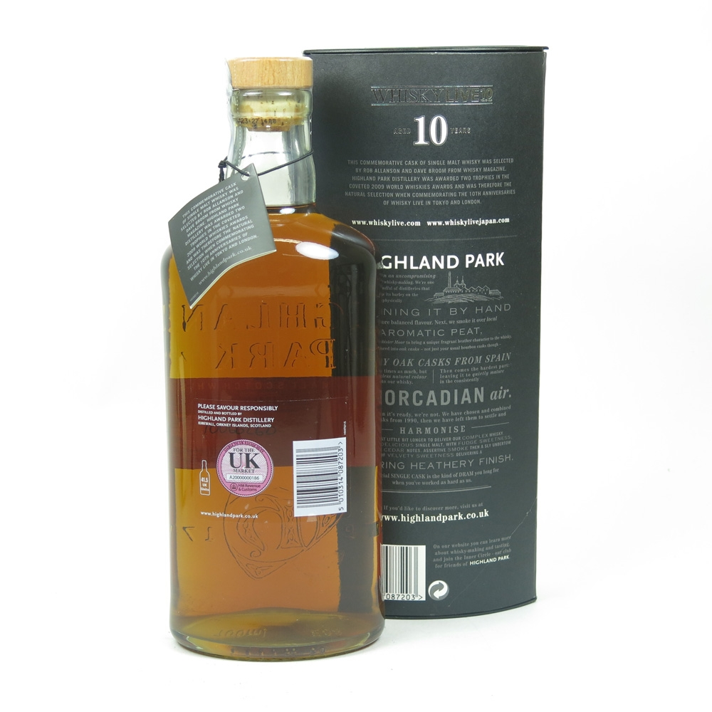 Highland Park 1999 Whisky Live 10 Year Old