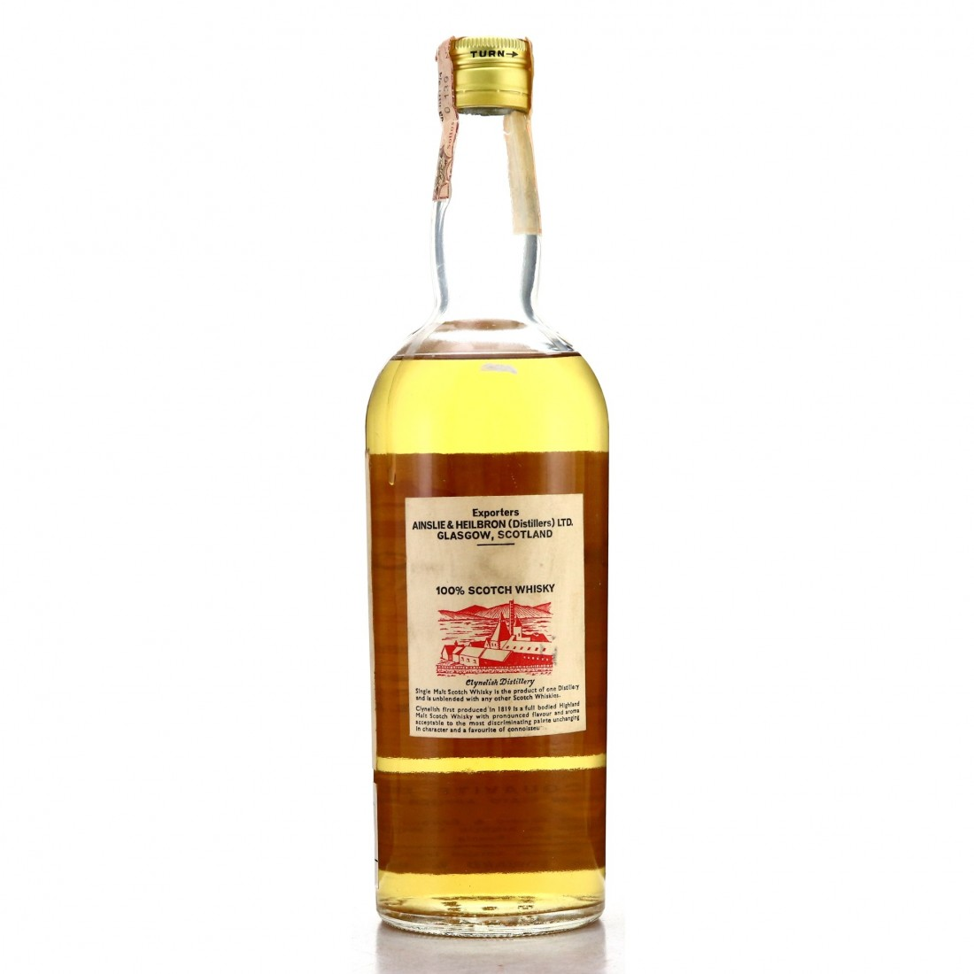 Clynelish 12 Year Old Ainslie and Heilbron Cask Strength 1969 / Edward and Edward - Bottle No.2