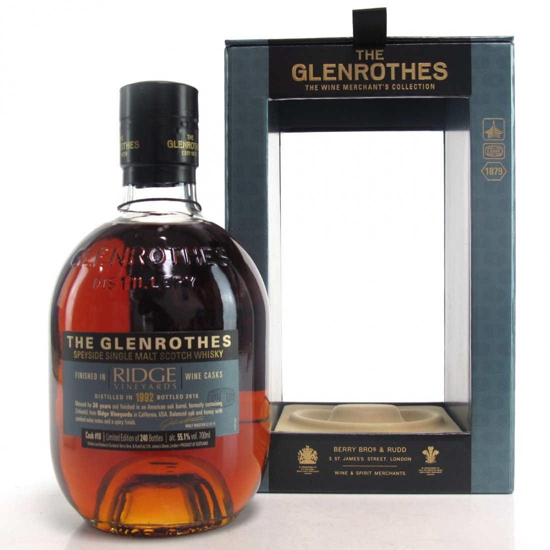 Glenrothes 1992 Ridge Zinfandel Cask Finish 24 Year Old / Wine Merchant's Collection