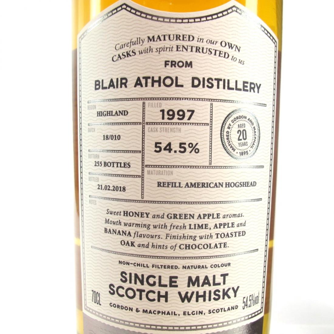 Blair Athol 1997 Gordon and MacPhail 20 Year Old Cask Strength