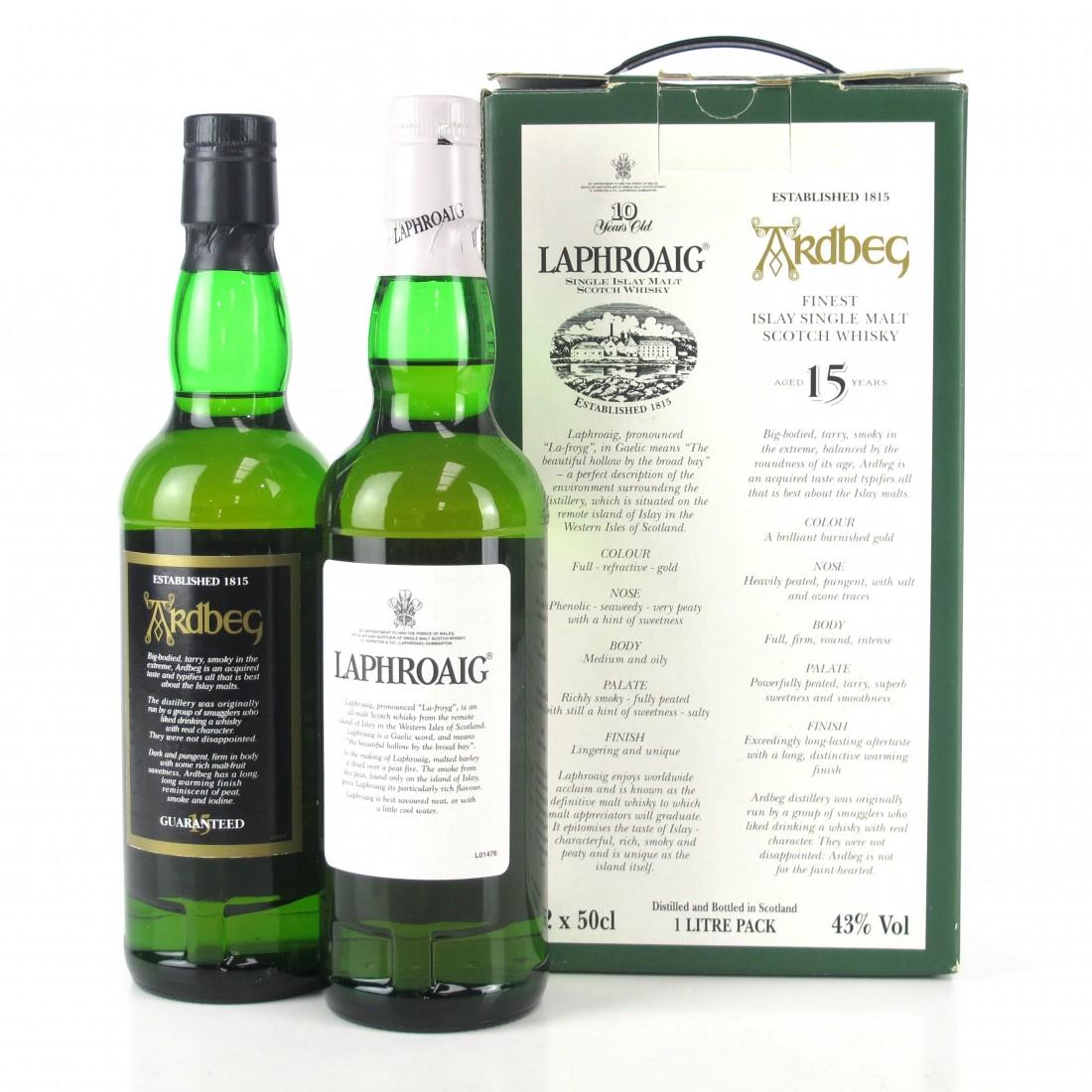 Quintessential Islay / Laphroaig 10 Year Old 50cl & Ardbeg 15 Year Old 50cl
