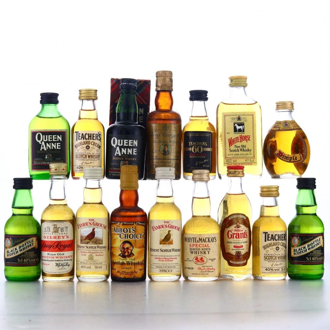 Scotch Whisky Miniatures x 16