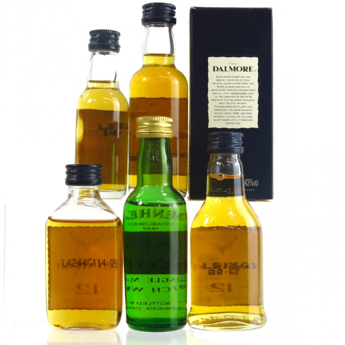 Dalmore Single Malt Selection 5 x 5cl / Including 1963 Cadenhead's 30 Year Old