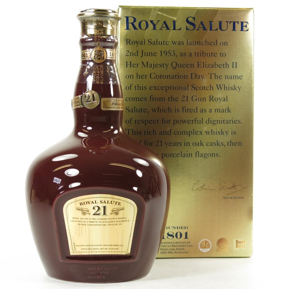 Chivas Regal 21 Year Old Royal Salute Ruby