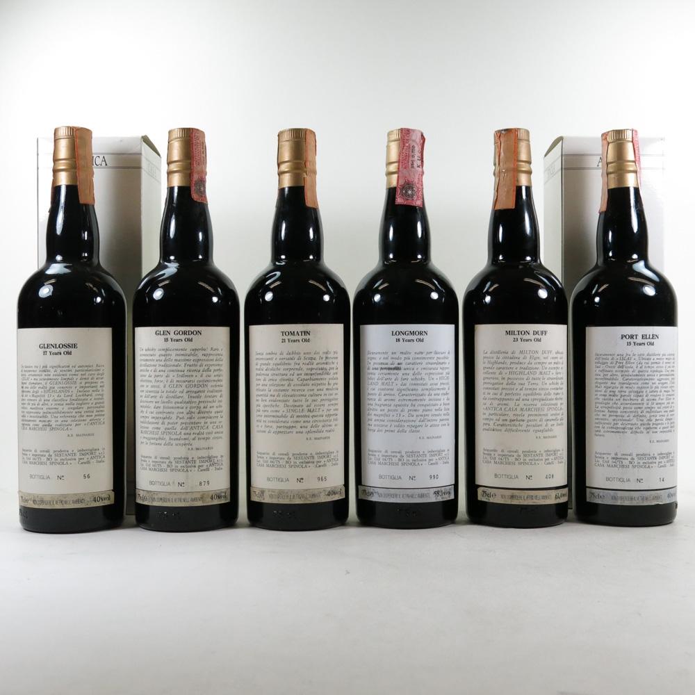 Marchesi Spinola Collection No.1 6 x 70cl / Including Port Ellen 1974 back
