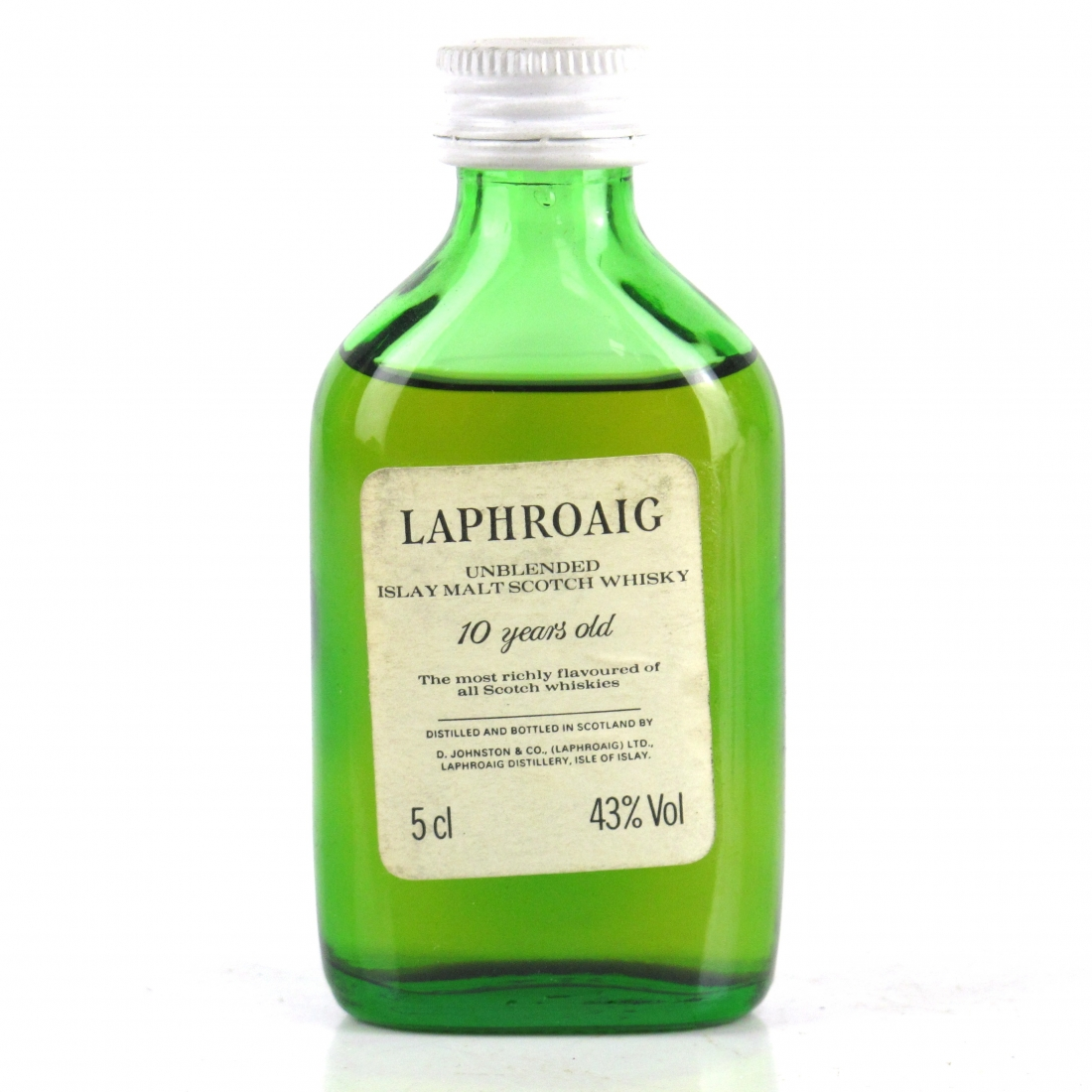 Laphroaig 10 Year Old Miniature 5cl 1980s