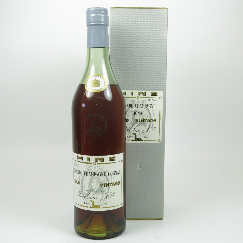 Hine Grande Champagne Cognac 1970s Front