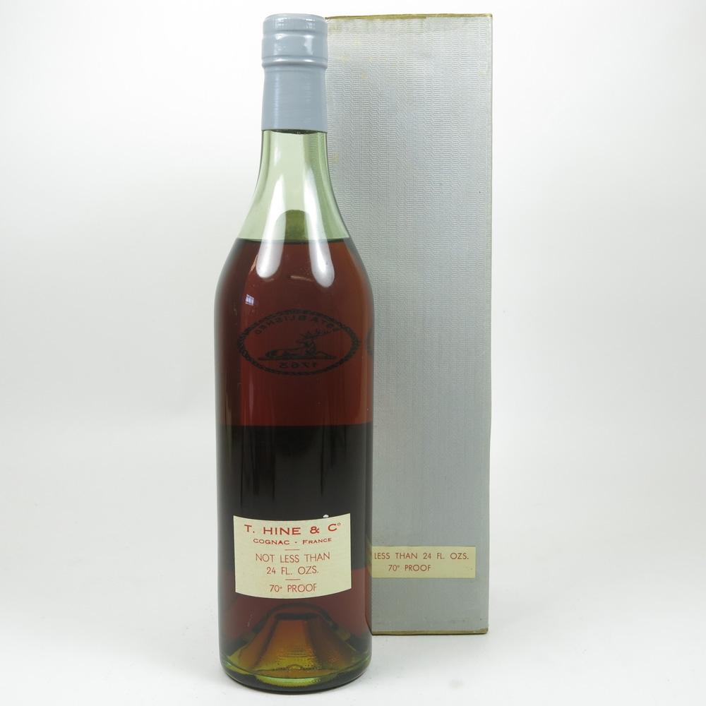 Hine Grande Champagne Cognac 1970s Back