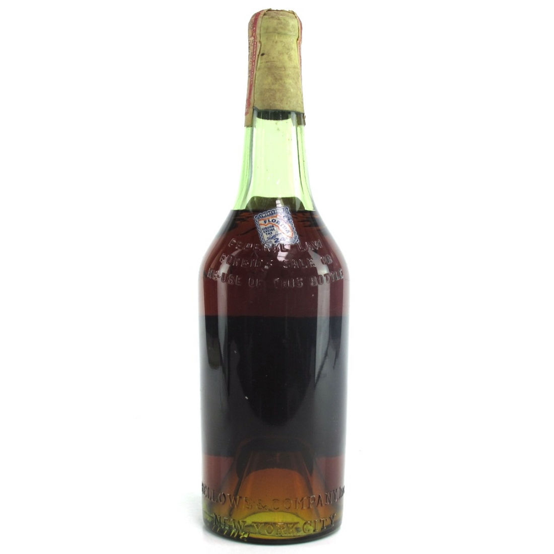 Bellows & Company 20 Year Old V.E Fine Cognac 1940s