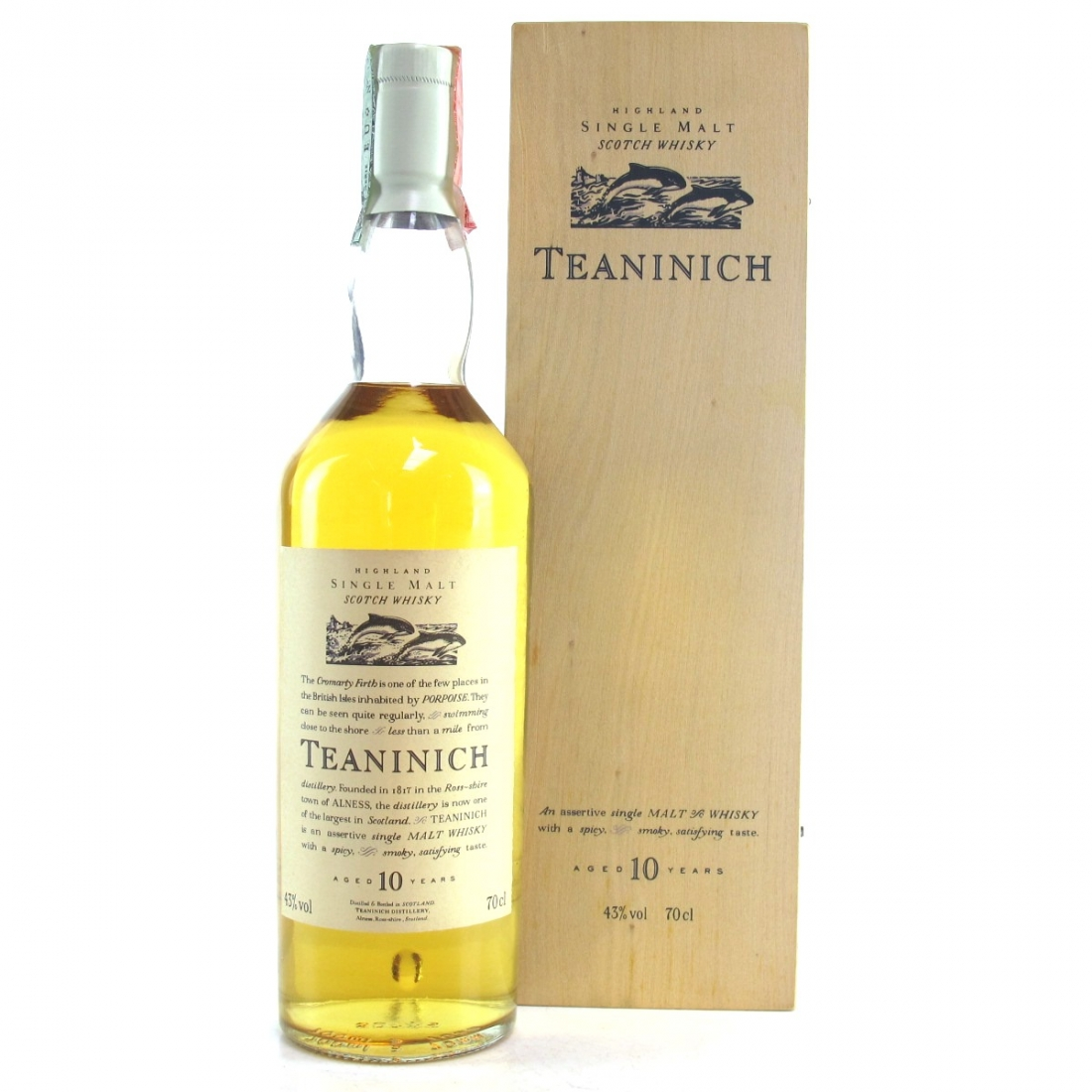 Teaninich 10 Year Old Flora and Fauna / Wooden Box White Cap