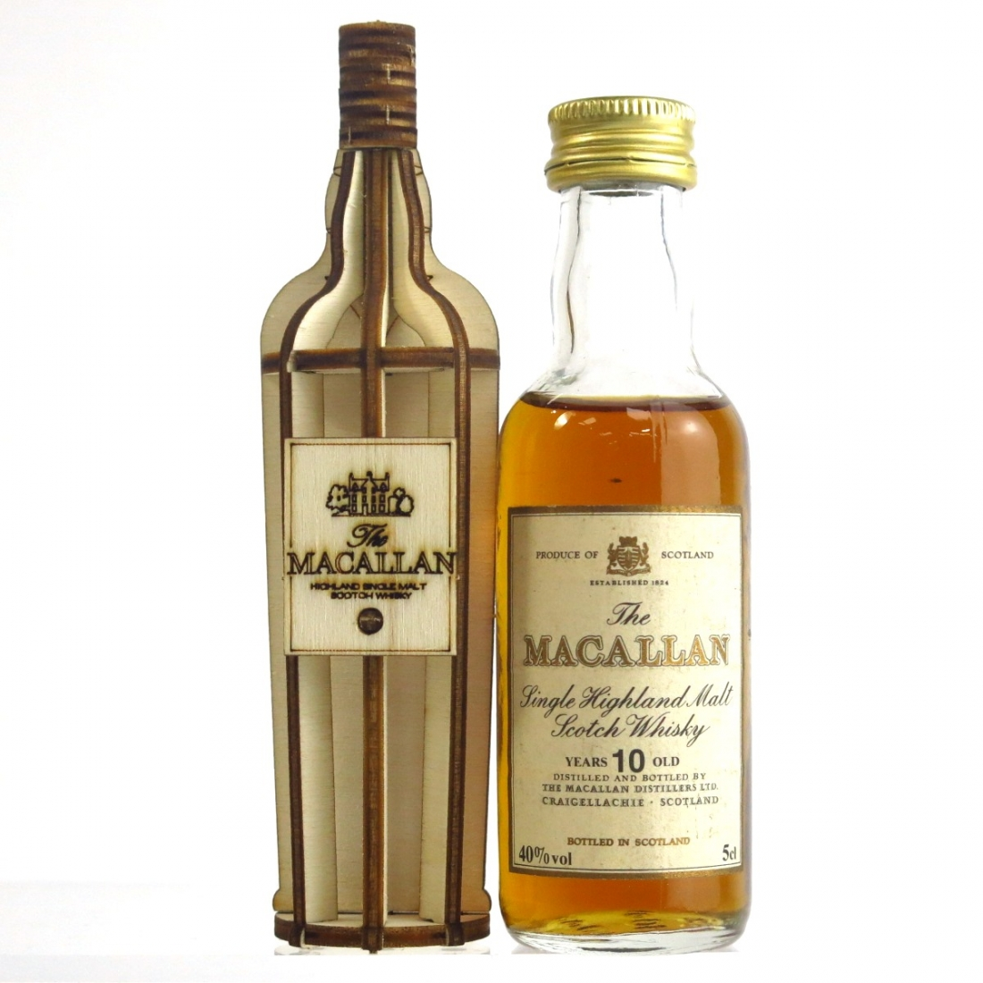 Macallan 10 Year Old Miniature 5cl and Popup Design Bottle