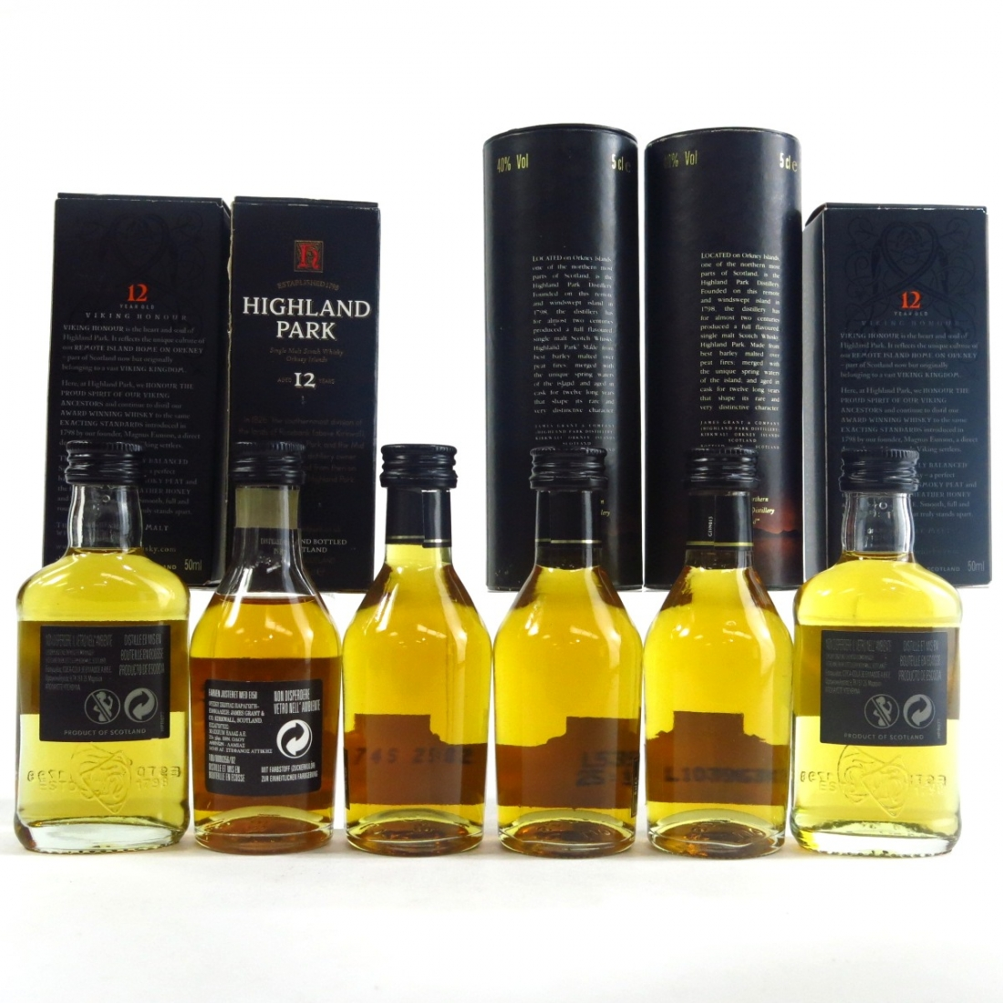 Highland Park 12 Year Old Miniatures 6 x 5cl