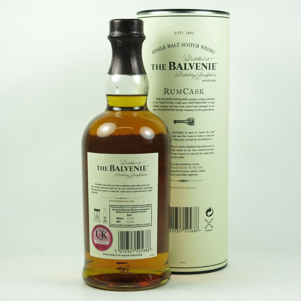Balvenie 17 Year Old Rum Cask back