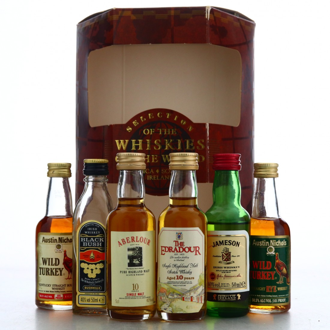 Whiskies of the World Miniatures x 6