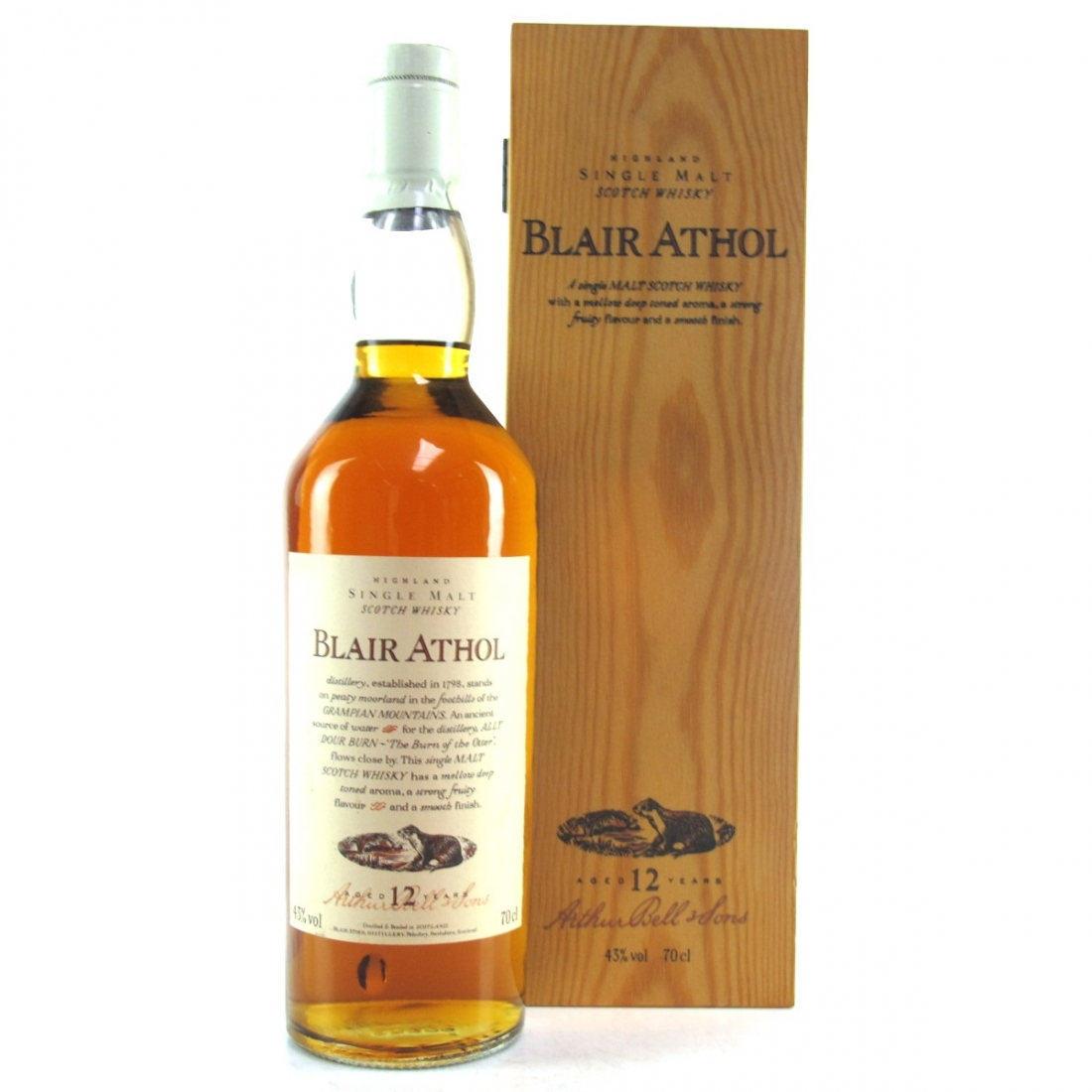 Blair Athol 12 Year Old Flora and Fauna / Wooden Box White Cap
