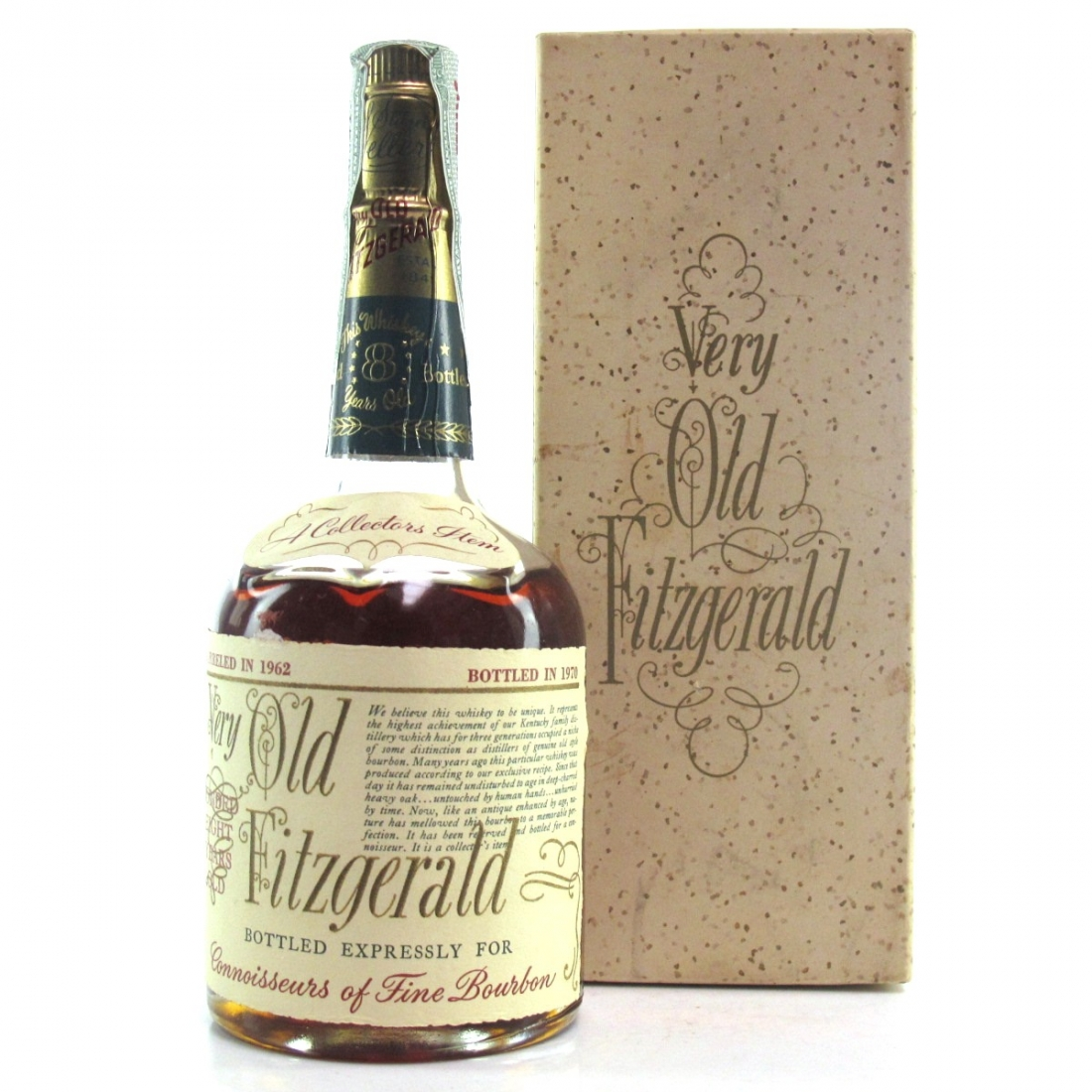 Very Old Fitzgerald 1962 Bonded 8 Year Old Half Pint / Stitzel-Weller