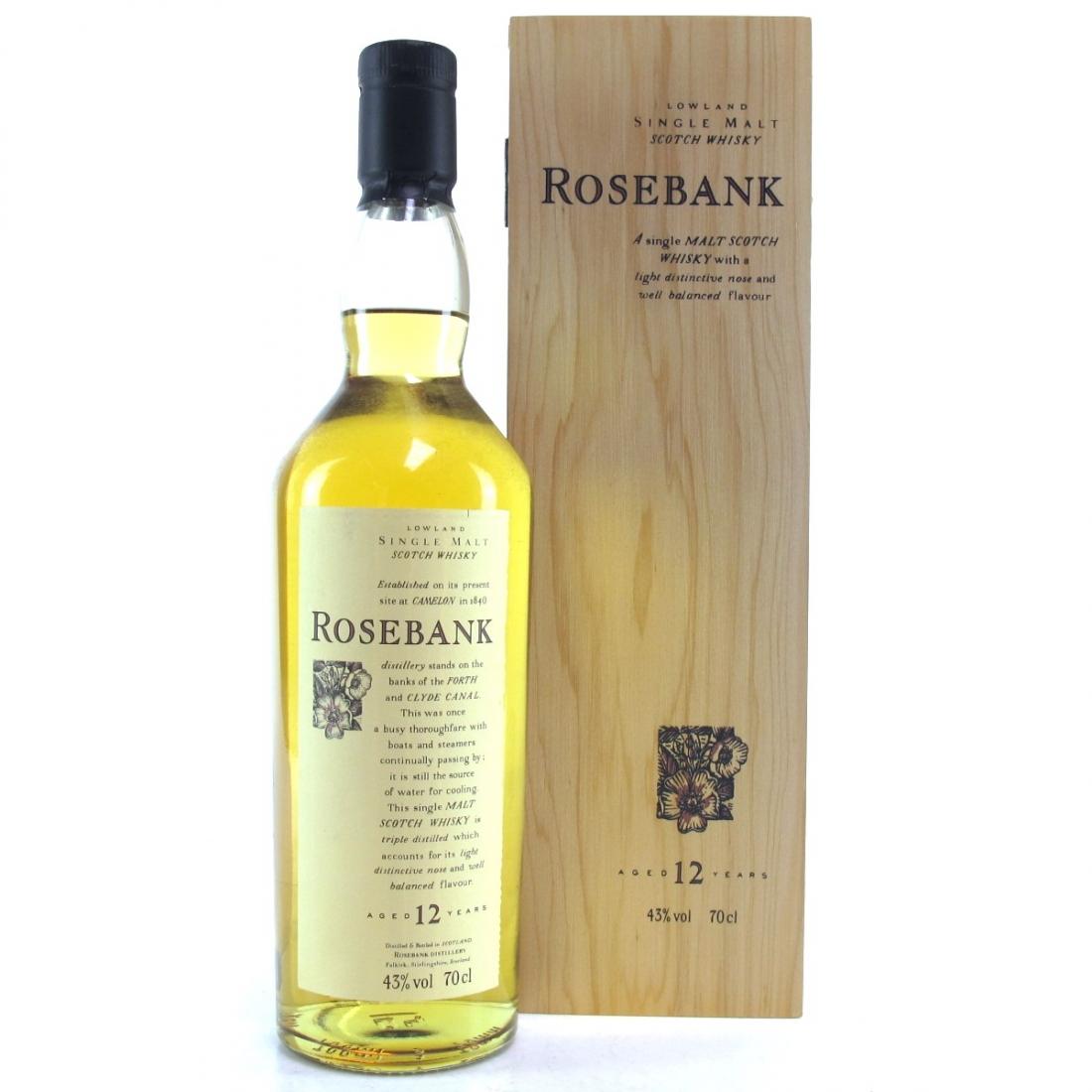 Rosebank 12 Year Old Flora and Fauna / Wooden Box