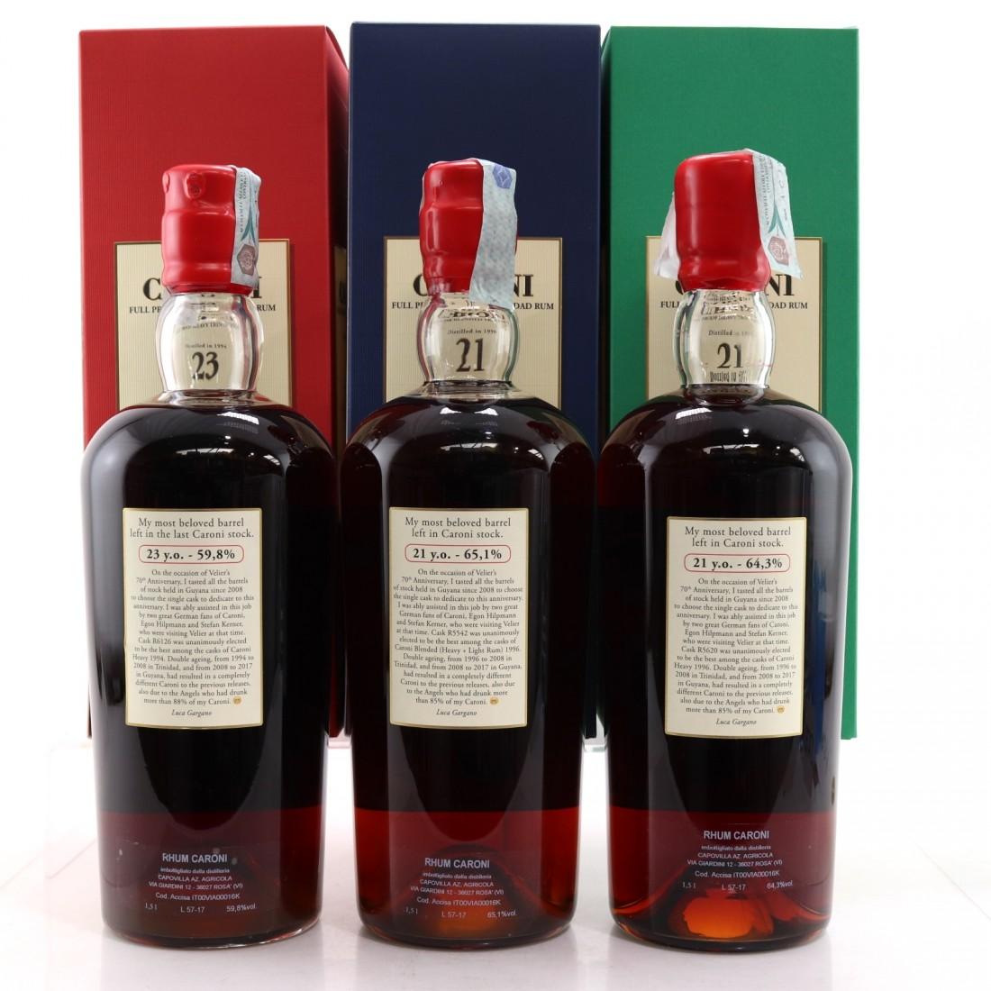 Caroni Magnum Collection 3 x 1.5 Litre / Velier 70th Anniversary