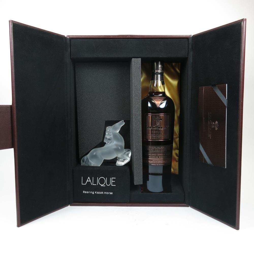 Macallan Oscuro / Lalique Kazak Horse