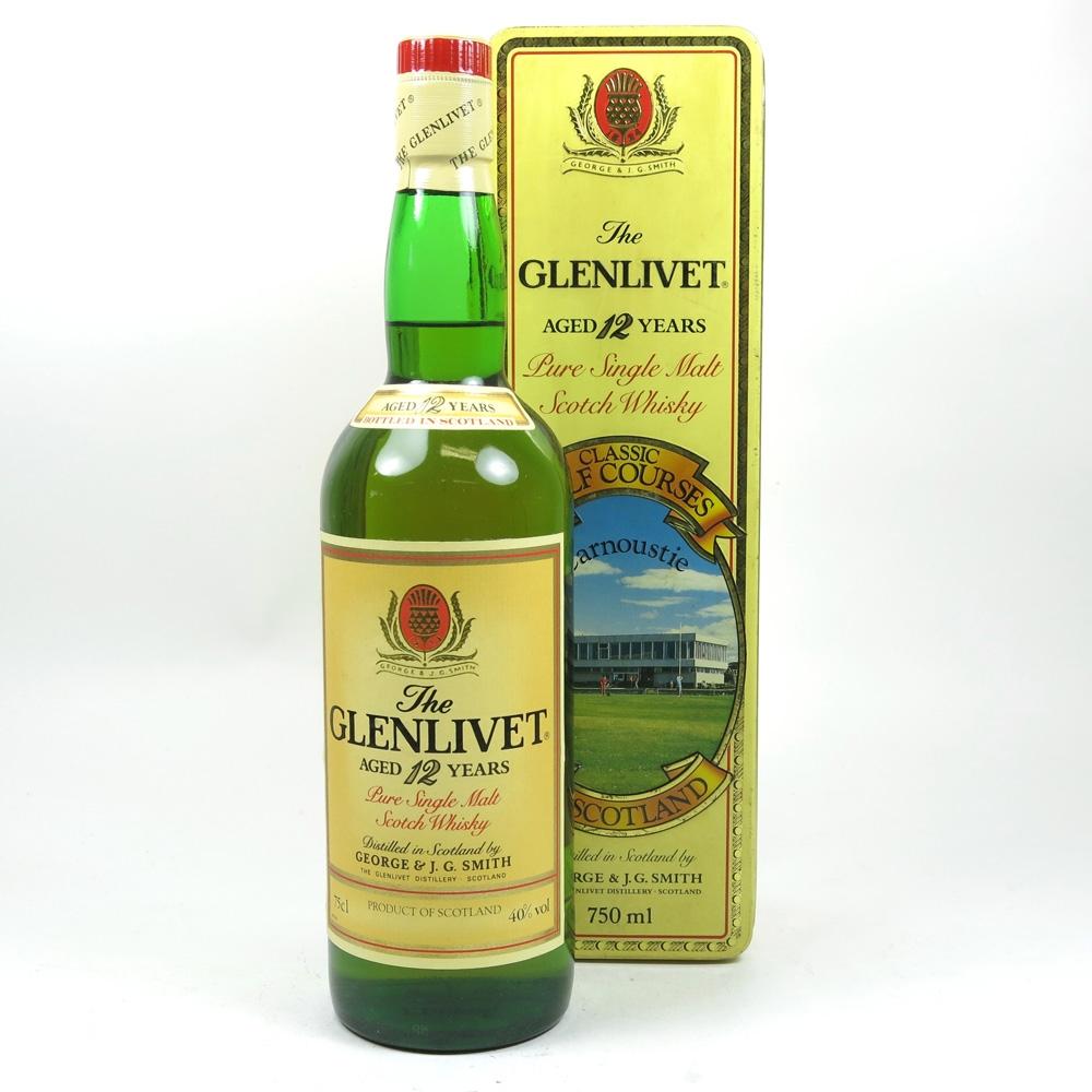 Glenlivet 12 Year Old Carnoustie Golf Course Tin front