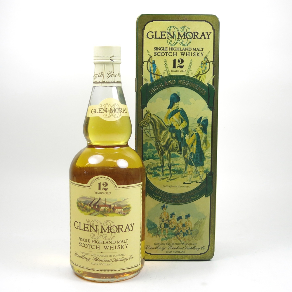 Glen Moray 12 Year Old Argyl and Sutherland Highlanders Tin Front