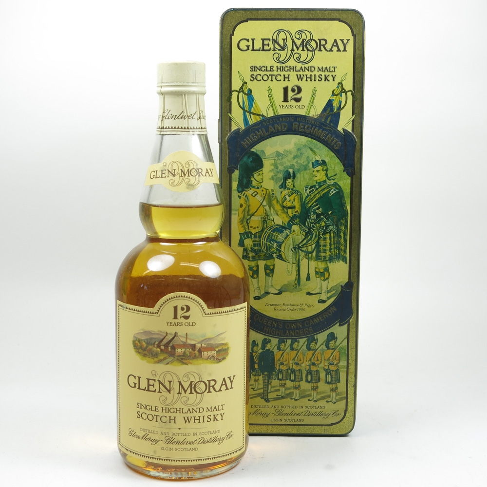 Glen Moray 12 Year Old Queen's Own Cameron Highlanders Tin Front