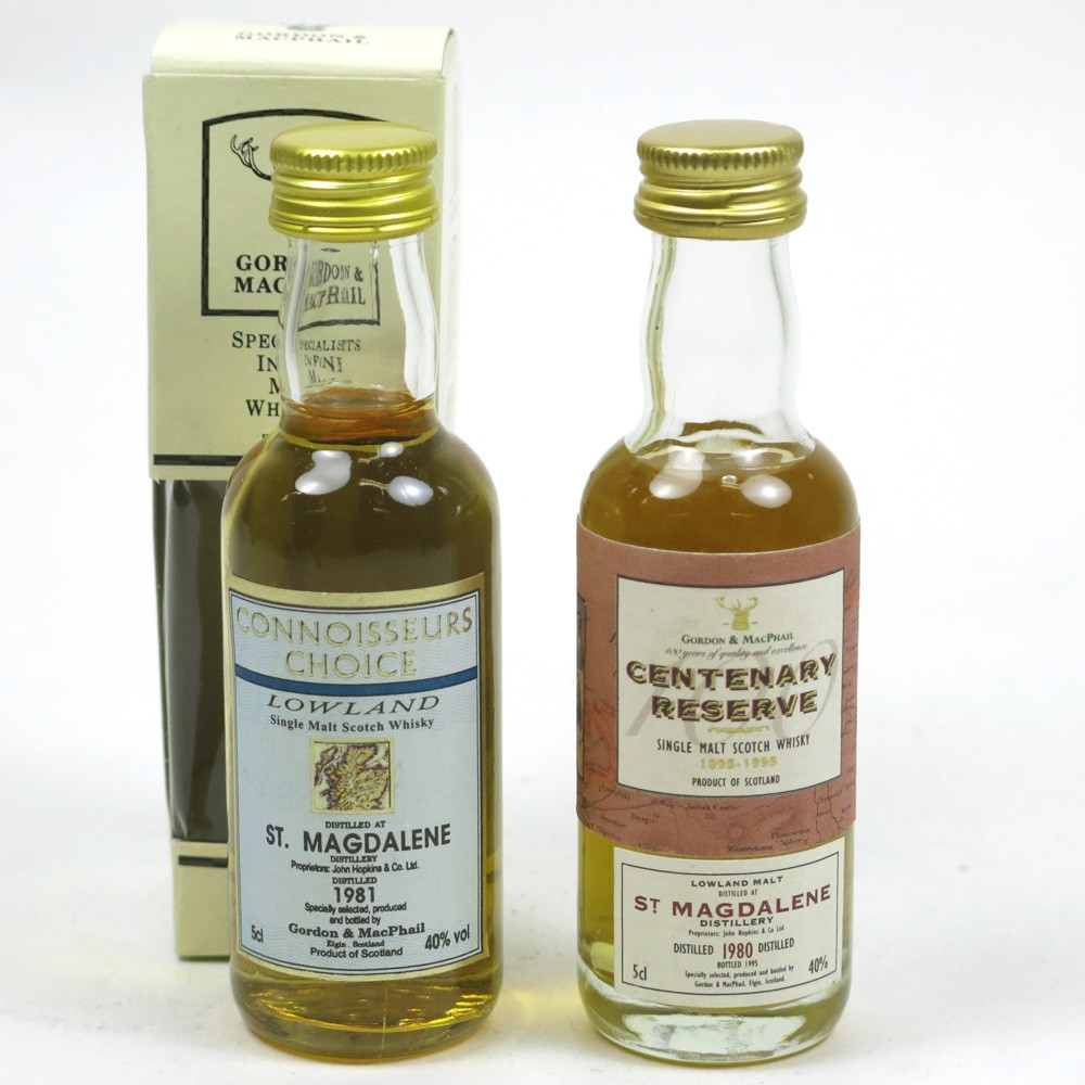 St Magdalene 1980 and 1981 Gordon and Macphail Miniatures 2 x 5cl