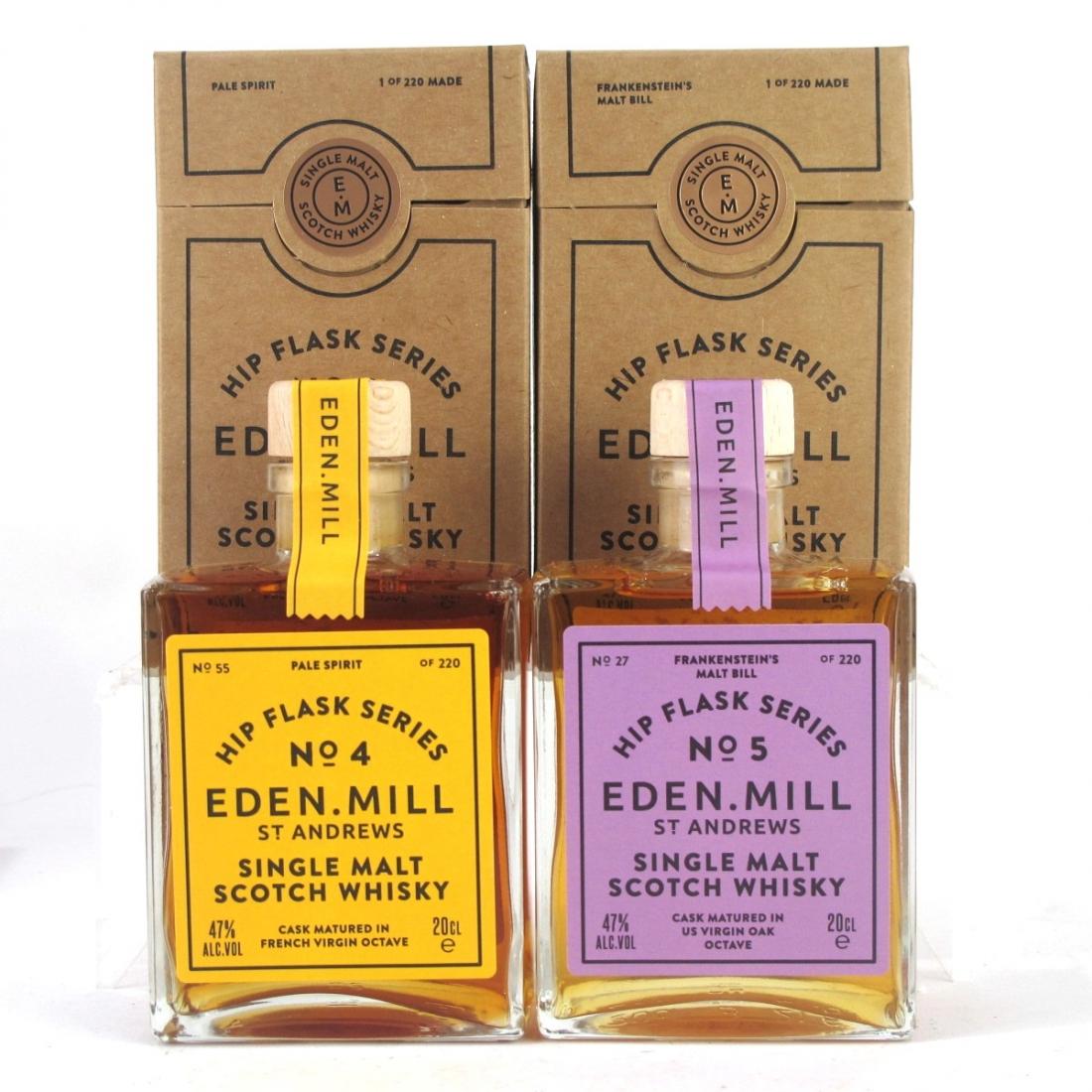 Eden Mill Single Malt Hip Flask Series 7 x 20cl