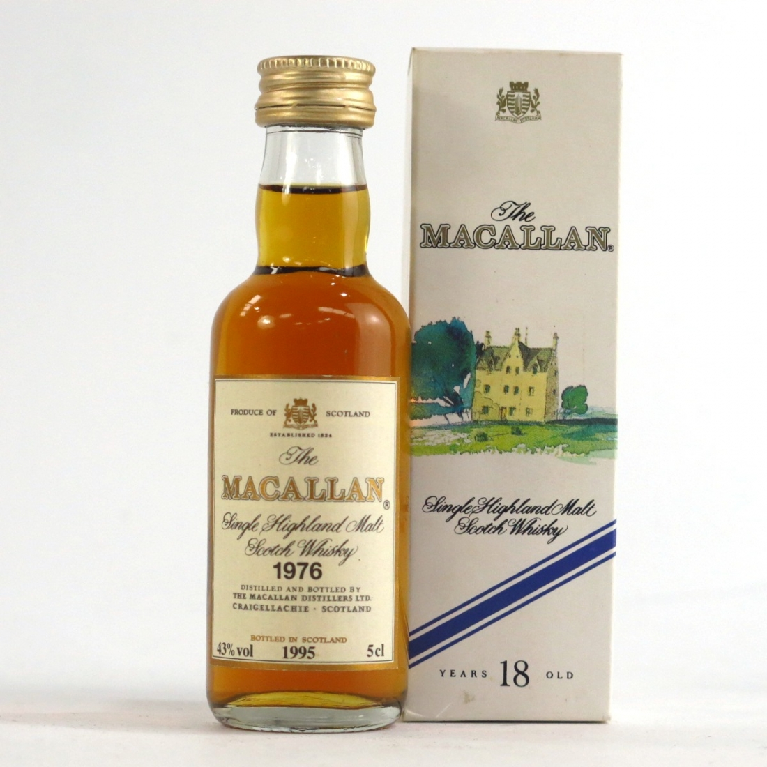 Macallan 18 Year Old 1976 Miniature 5cl