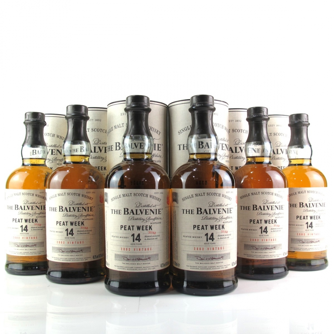 Balvenie 2002 Peat Week 14 Year Old 6 x 70cl