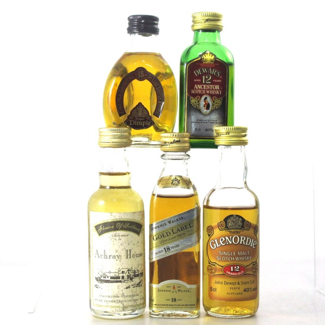 Blended Scotch Whisky Miniatures x 8 / Including Glenordie Single Malt