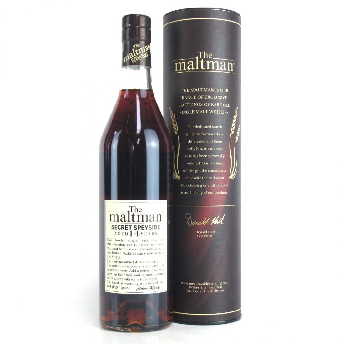 Secret Speyside 2002 Maltman 14 Year Old / Macallan