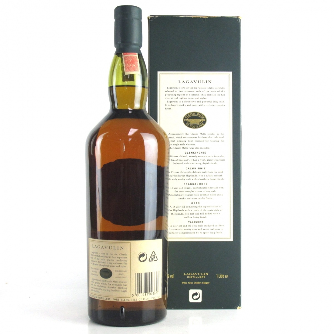 Lagavulin 16 Year Old White Horse Bottling 1 Litre