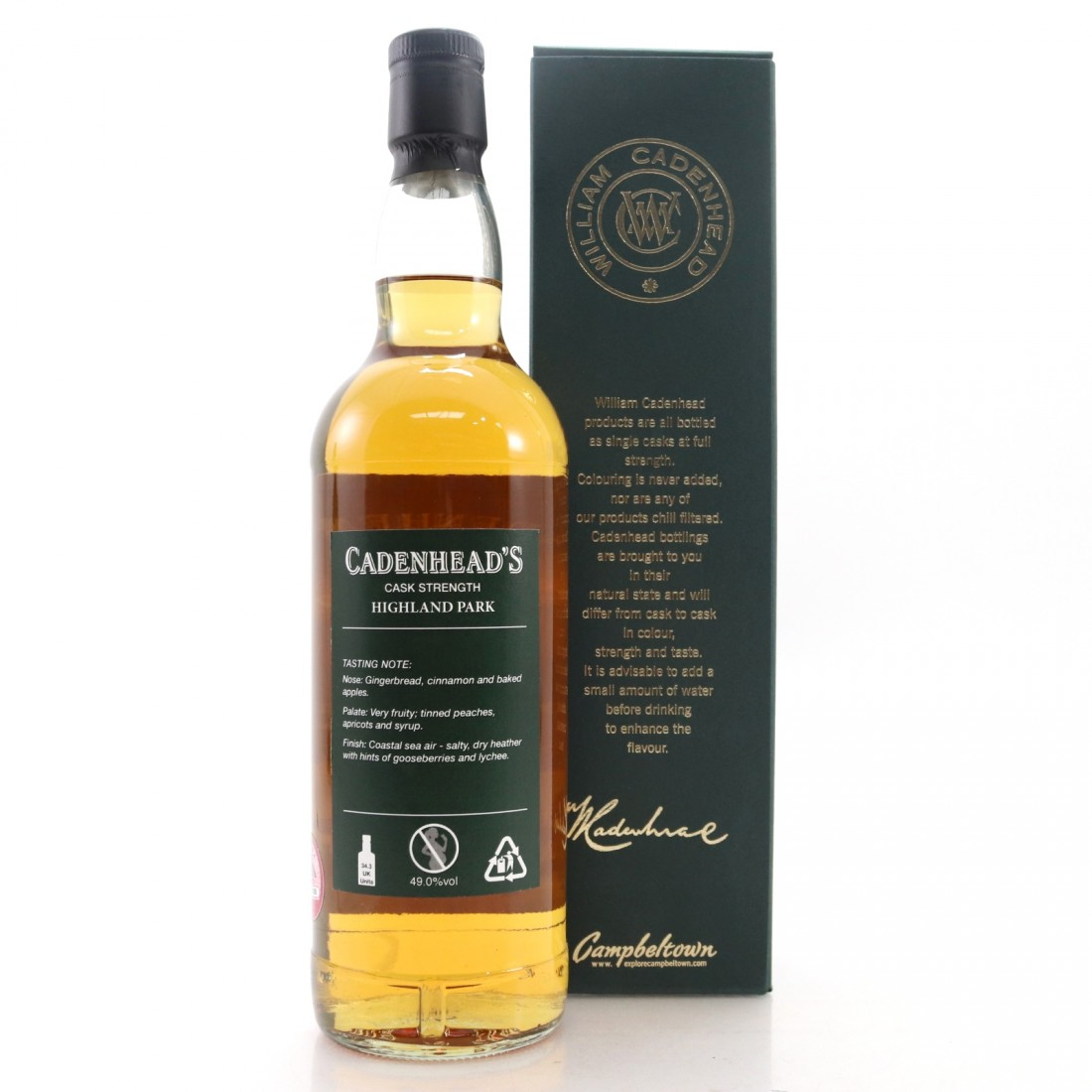 Highland Park 1988 Cadenhead's 30 Year Old
