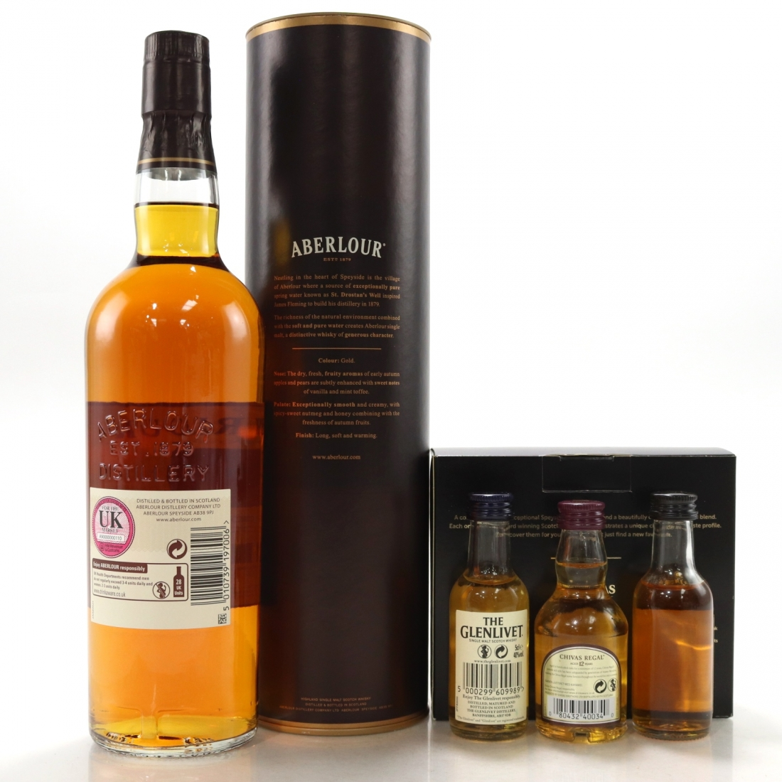 Aberlour 10 Year Old / including Classic Scotch Whisky Miniature Collection 3 x 5cl