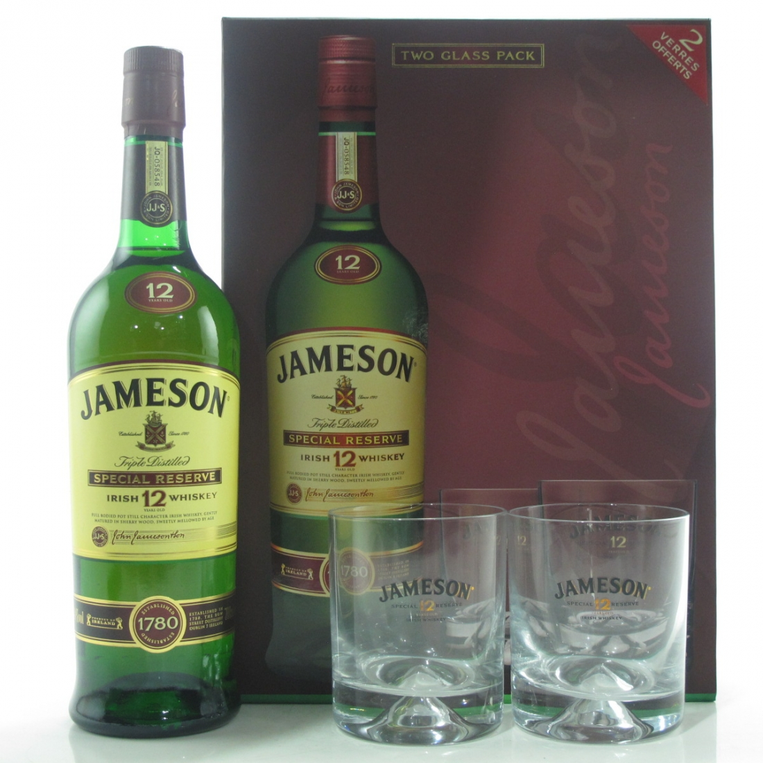 Jameson 12 Year Old Special Reserve / with 2 x Glasses