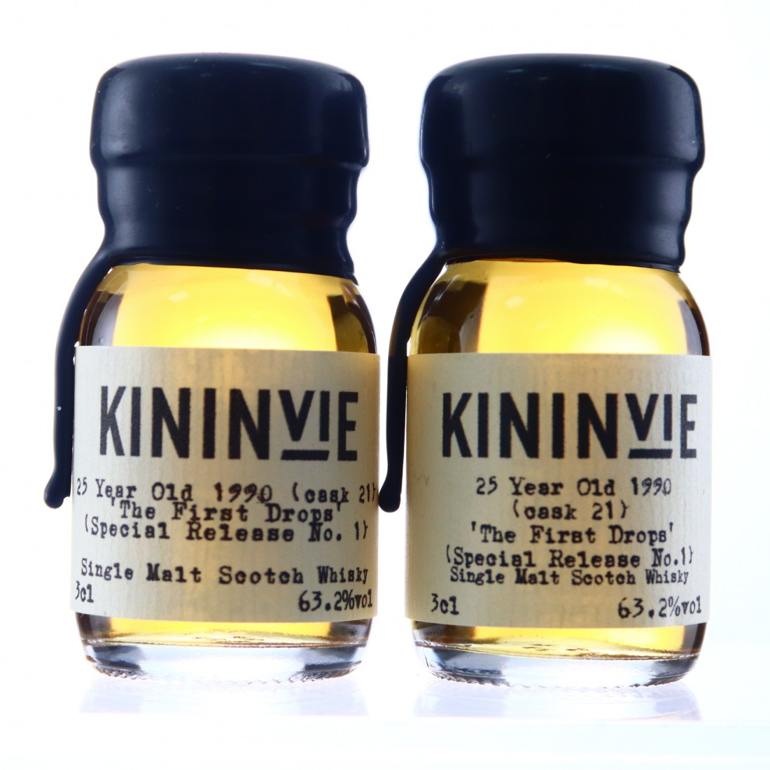 Kininvie 1990 The First Drops 25 Year Old Special Release #1 Samples x 2