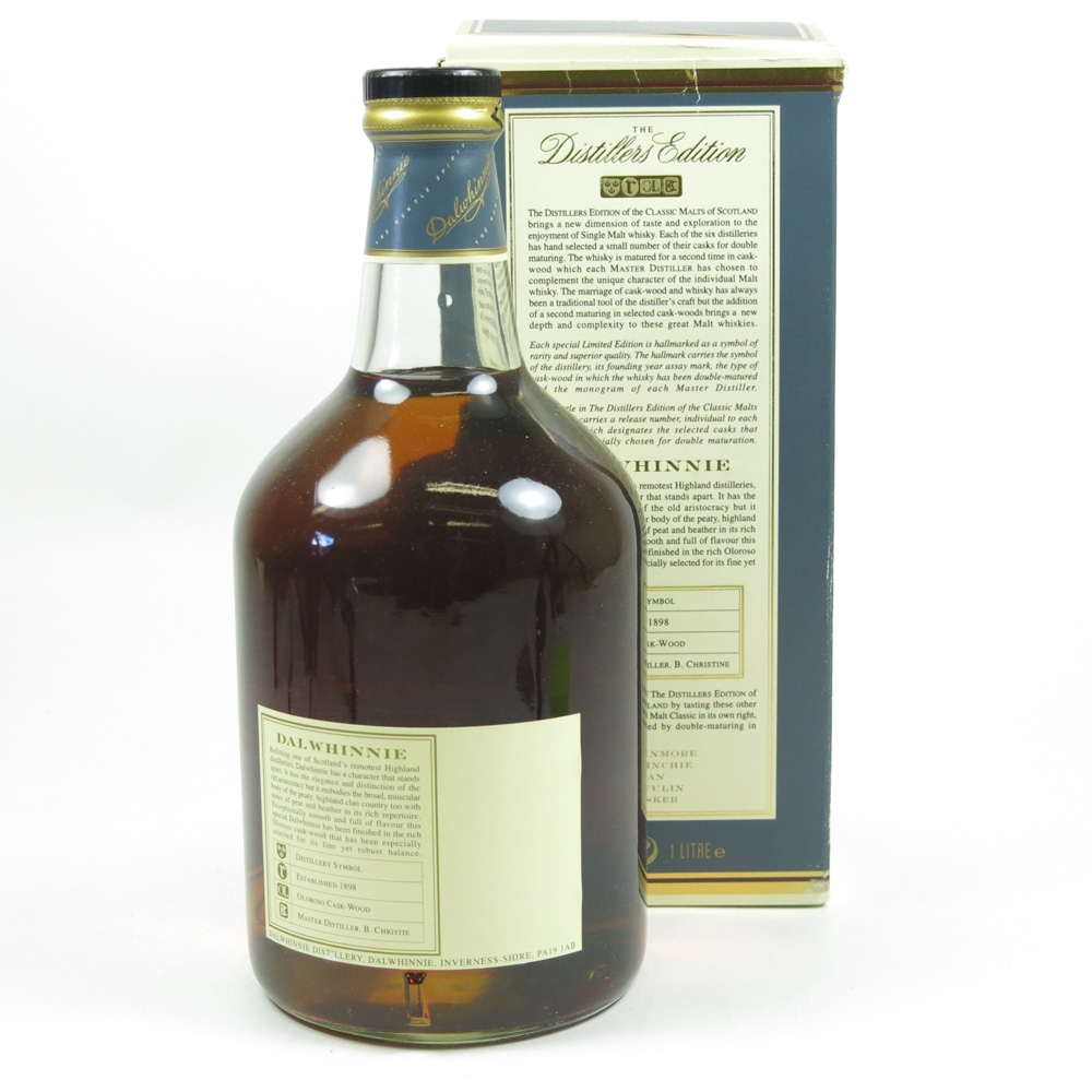 Dalwhinnie 1980 Distillers Edition / First Release 1 Litre Back
