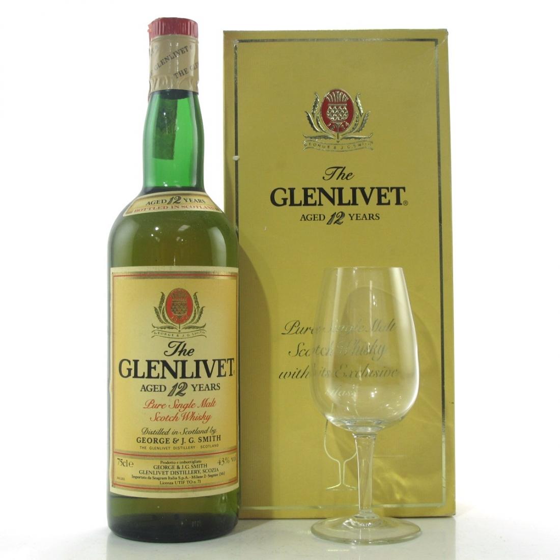 Glenlivet 12 Year Old 1980s / including Glass