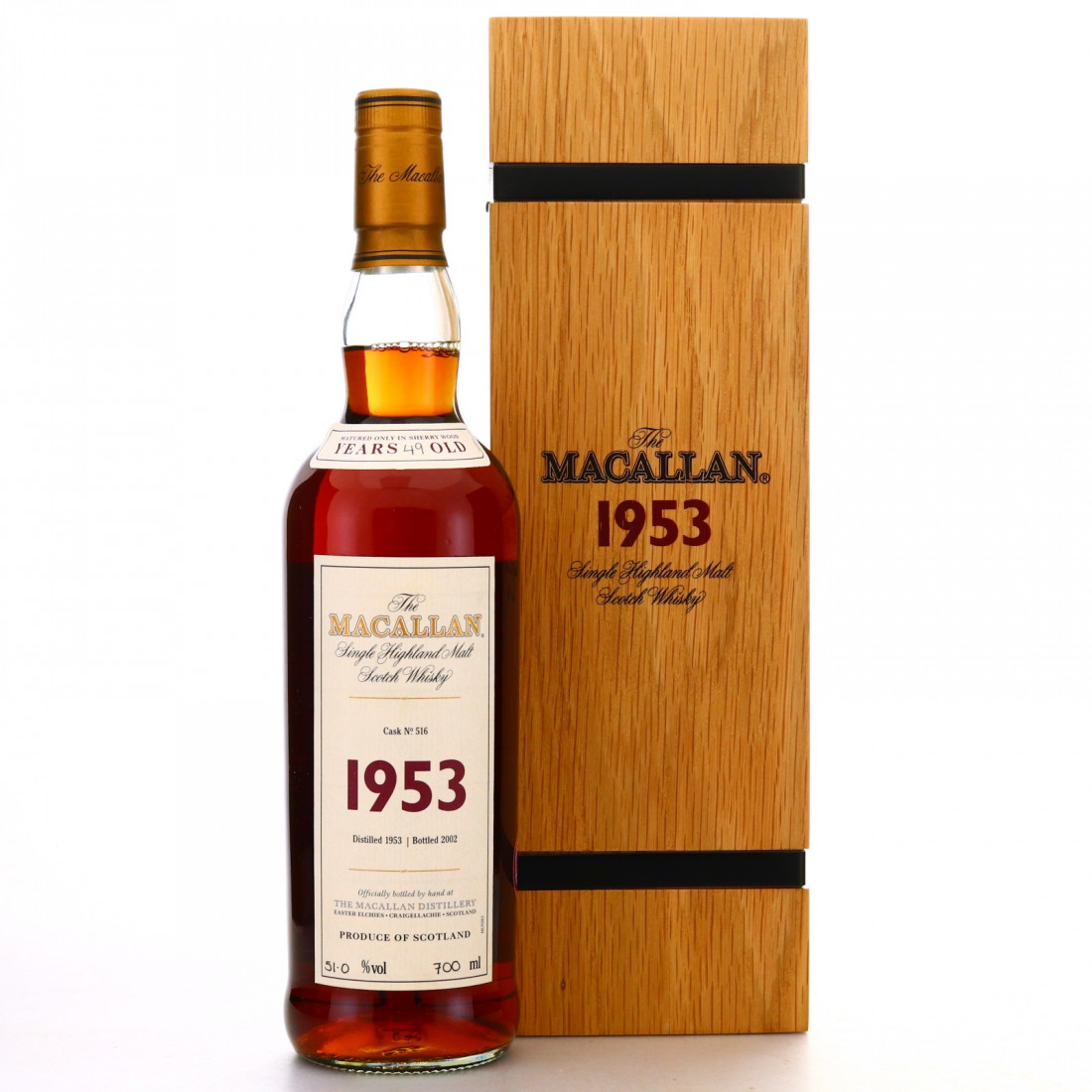 Macallan 1953 Fine and Rare 49 Year Old #516