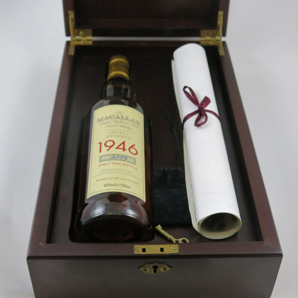 Macallan 1946 Select Reserve 52 Year Old box