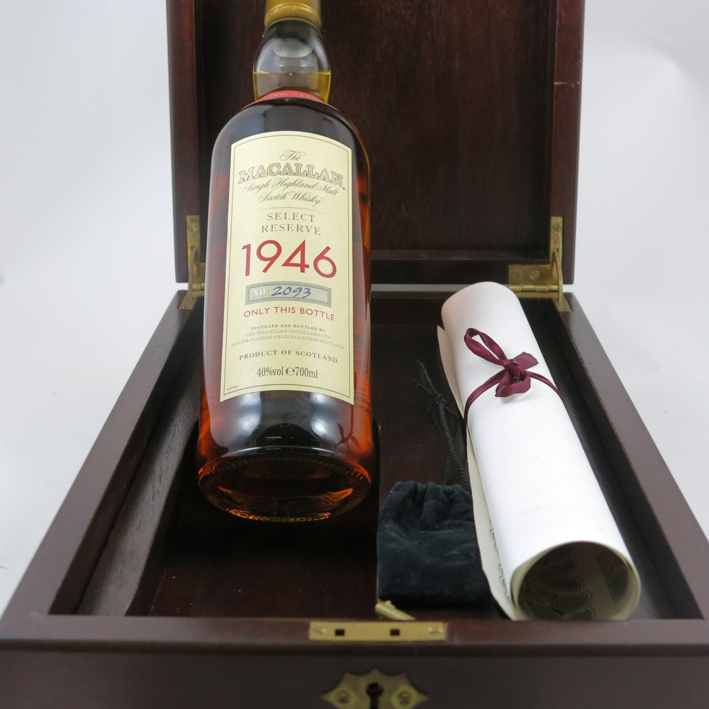 Macallan 1946 Select Reserve 52 Year Old bottle