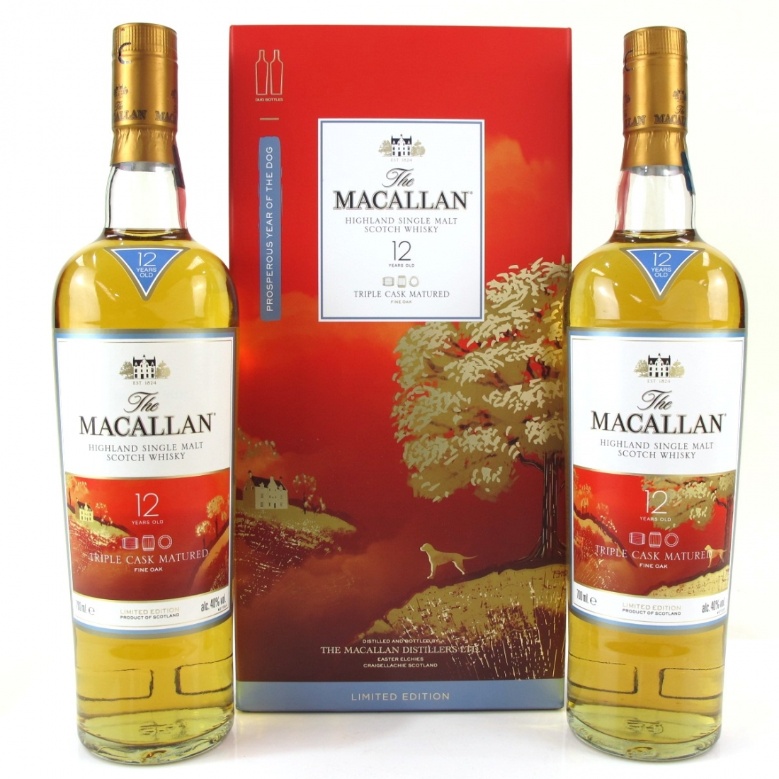 Macallan 12 Year Old Fine Oak 2 x 70cl / Year of the Dog