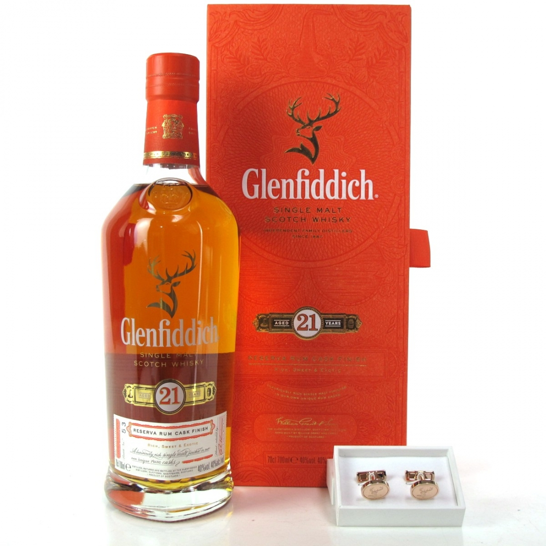 Glenfiddich 21 Year Old Reserva Rum Finish / Including Cufflinks