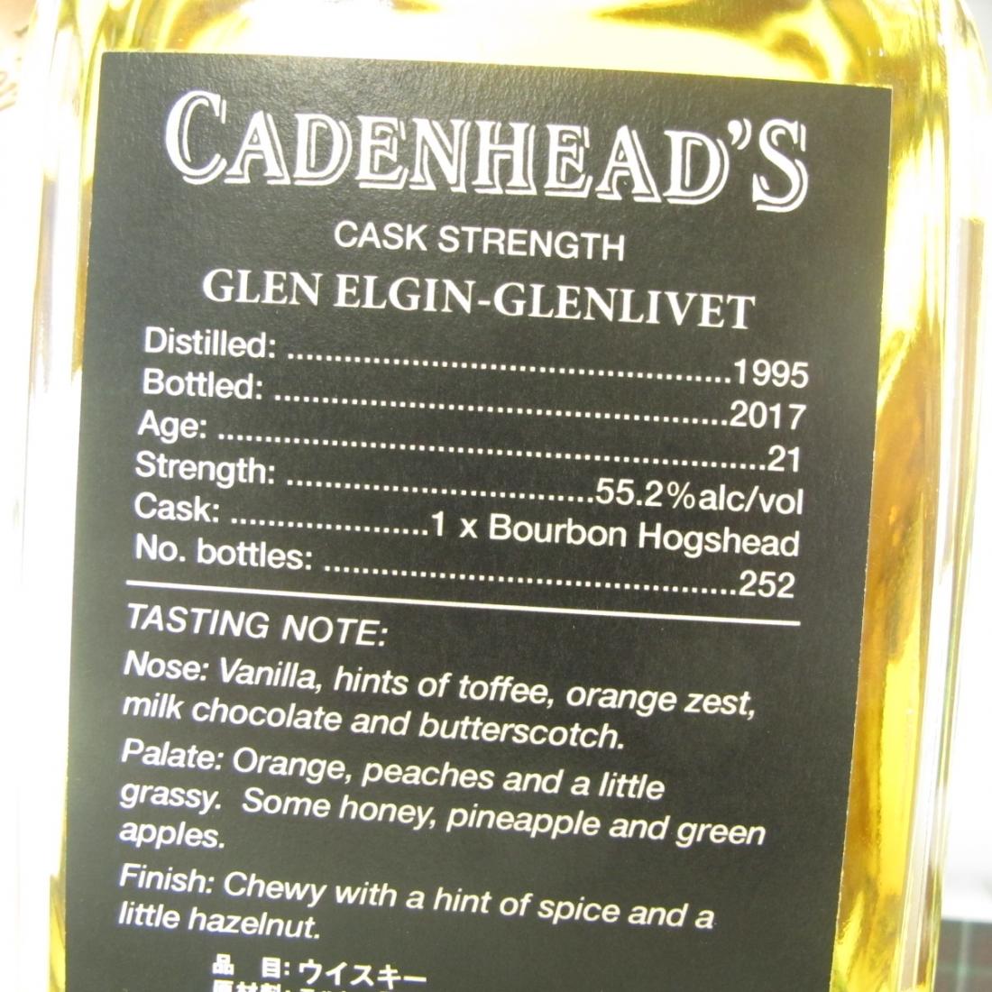 Glen Elgin 1995 Cadenhead's 21 Year Old