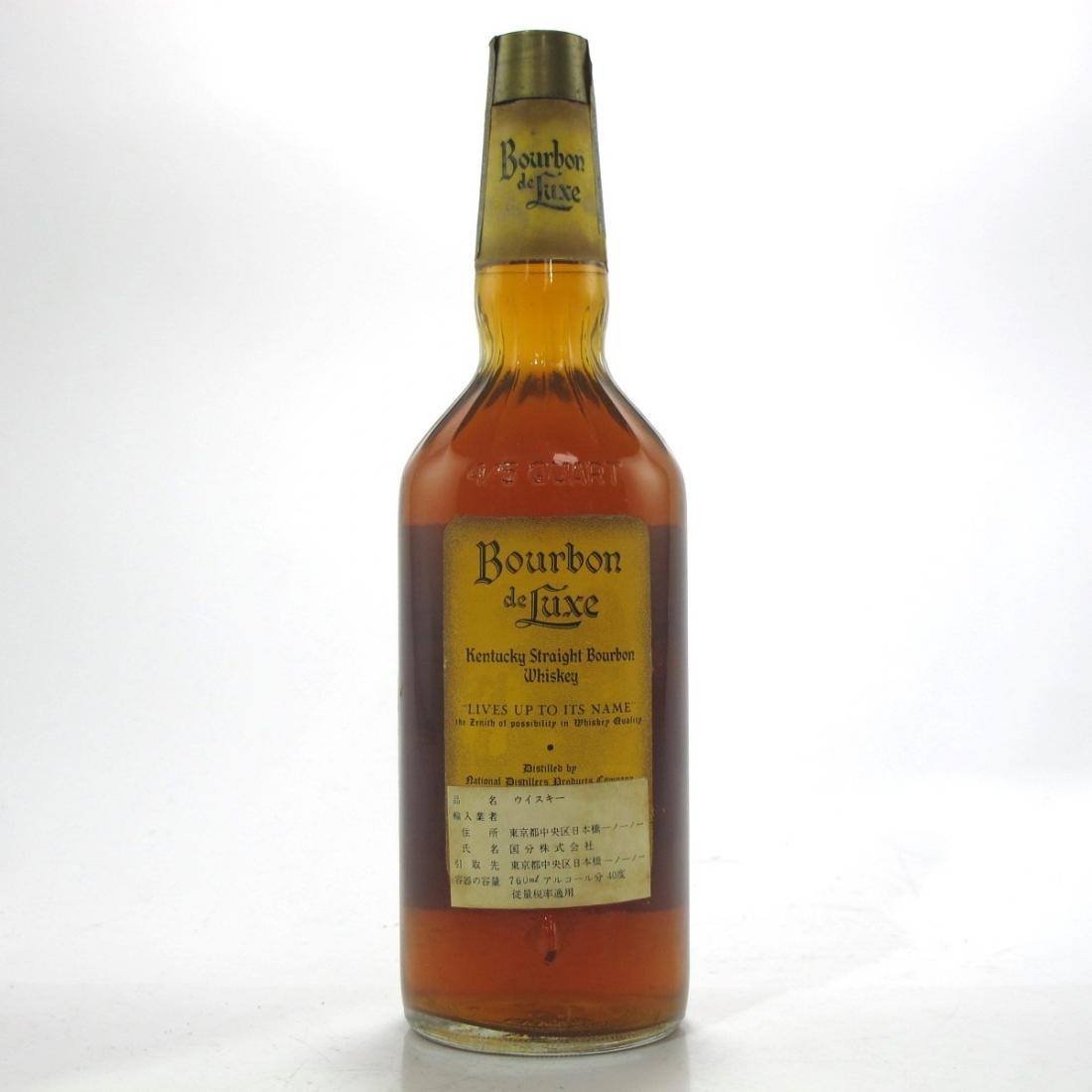 Bourbon de Luxe Kentucky Straight Bourbon 1970s