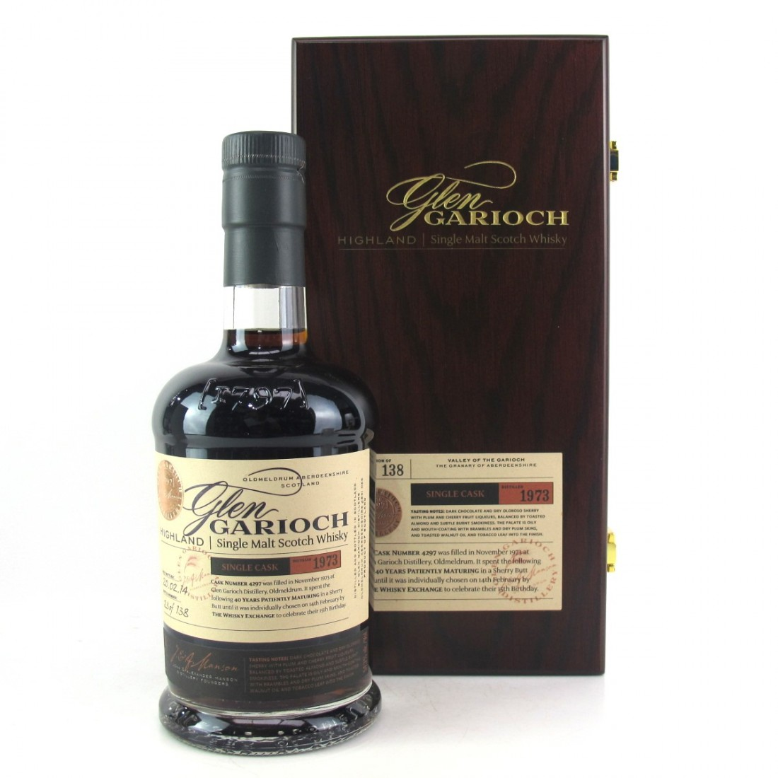 Glen Garioch 1973 Single Cask 40 Year Old #4297 / TWE