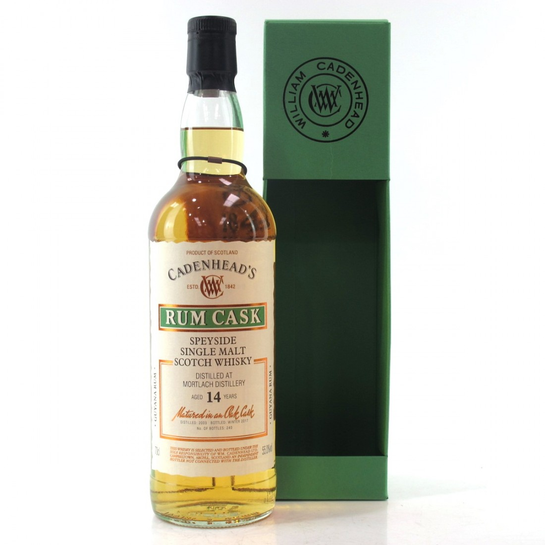 Mortlach 2003 Cadenhead's 14 Year Old Rum Cask
