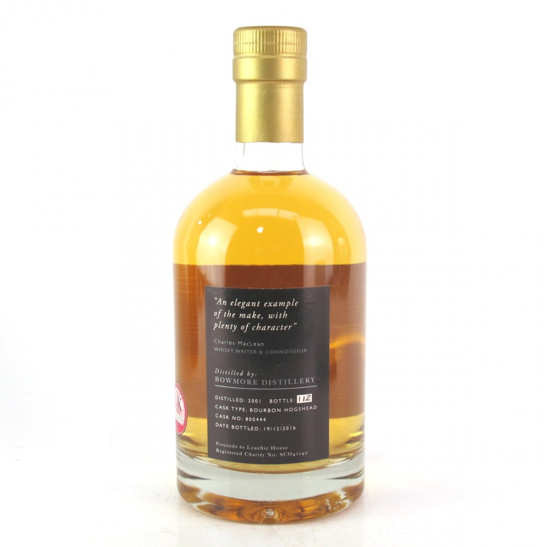 Bowmore 2001 The Leuchie Reserve 15 Year Old - Charity Bottle​