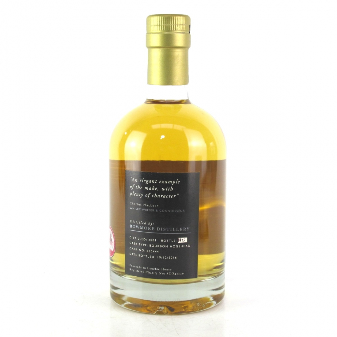 Bowmore 2001 The Leuchie Reserve 15 Year Old - Charity Bottle